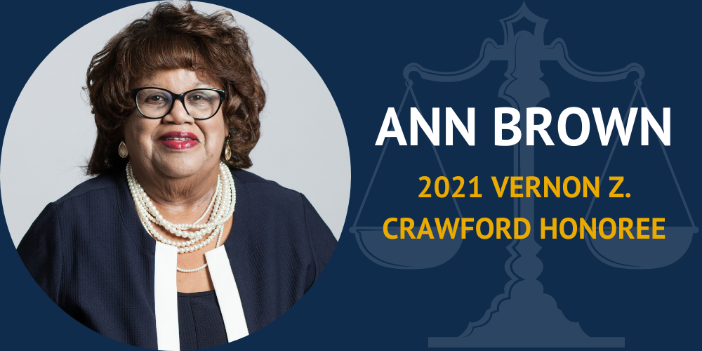 Ann Brown Named Vernon Z. Crawford Honoree by Crawford Bar Association